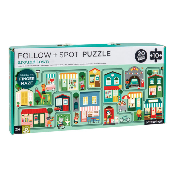 Around Town Follow and Spot Puzzle