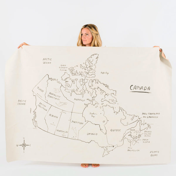 Canada Map Midi+ Leather Mat