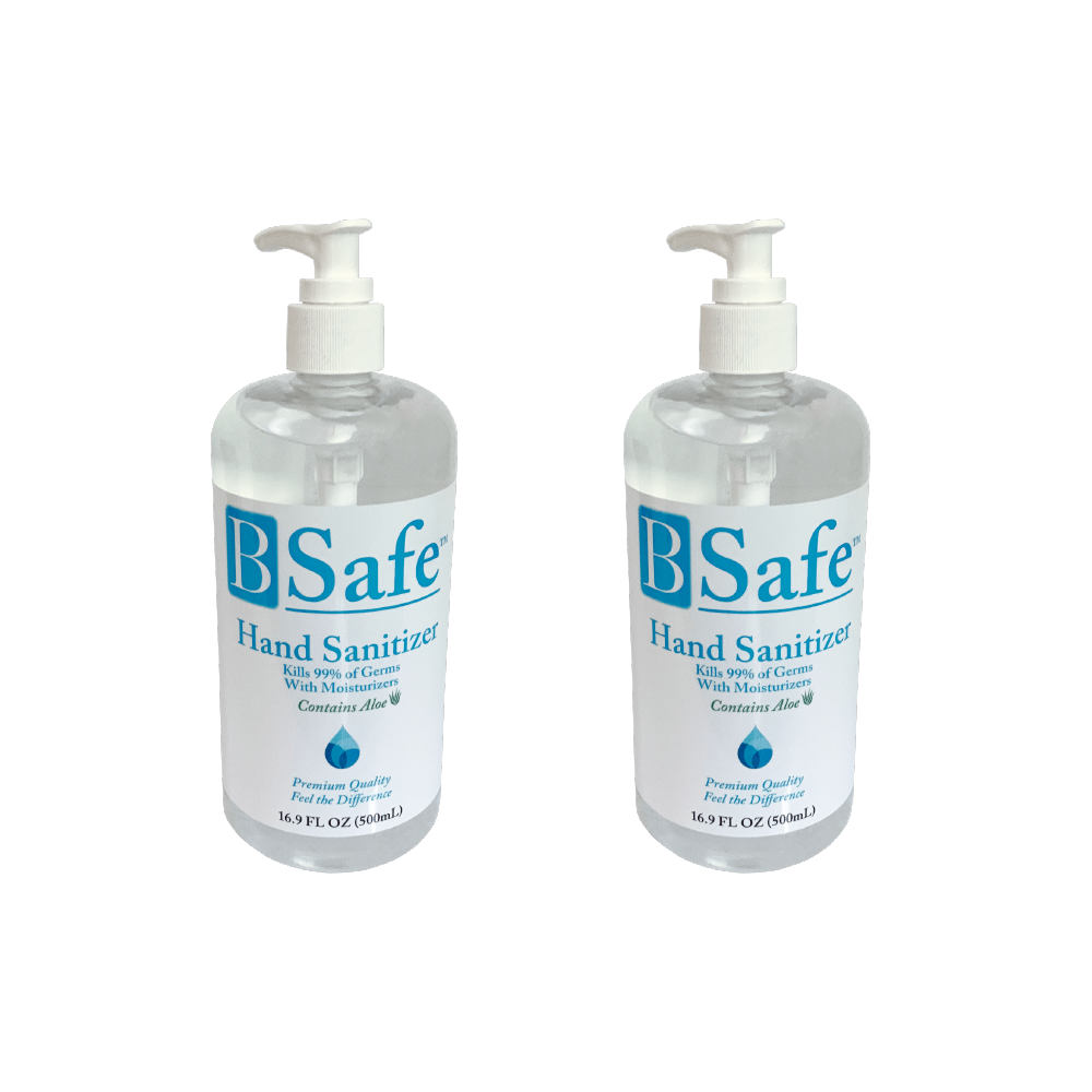 BSafe Hand Sanitizer, 16.9oz Set of 2