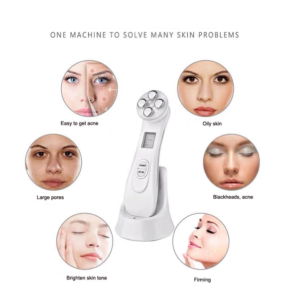 Angels 2020 Radio Frequency LED Photon Skin Tightening and Wrinkle Removal perfect for use on the face and other body parts.