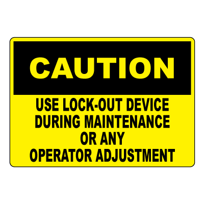 Lockout Facility Signage