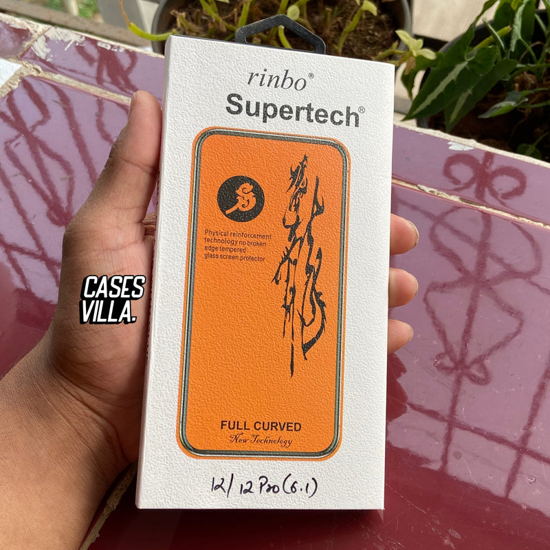 iPhone 12 Series SuperTech Full Curved 9H Tempered Glass Screen Protector