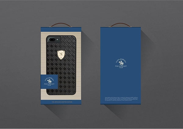 Luxury US Polo Santa Barbara Black Racquet Club Synthetic Leather Case | Cover for iPhone 7