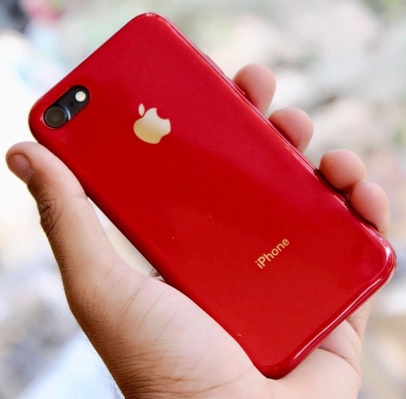 Apple iPhone Red MyCase Look Alike iPhone 8 / 8Plus Reflective Glass Finish Case | Cover for iPhone 6 / 6s / 6Plus / 6sPlus / 7 / 7Plus / 8 / 8Plus