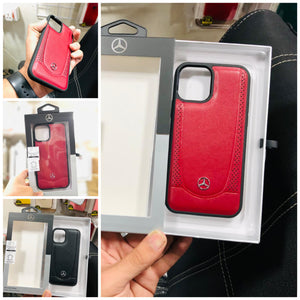 Mercedes Benz ® Urban | Genuine Leather Hard Case for iPhone 11 & 12 Series