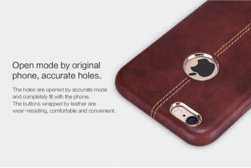 iPhone Vorson® Brown Double Stitched Genuine Leather Case | Cover