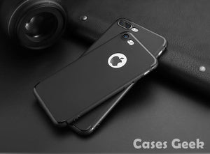 Apple iPhone Black Premium Anti Skid Soft Silicone Back Case | Cover