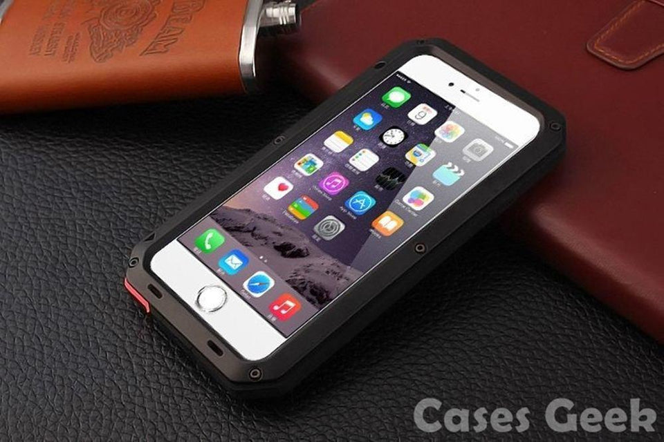 Apple iPhone White Aluminium Gorilla Glass Metal Waterproof | Dust/Shock Proof Case | Cover
