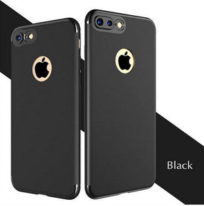 Apple iPhone Black Camera Protection Matte Finish Soft Silicon Case | Cover