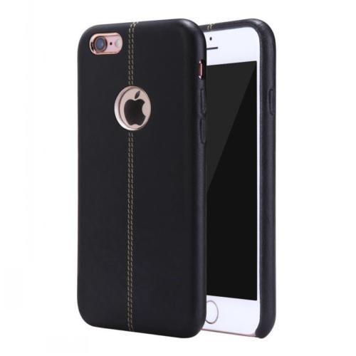 iPhone Vorson® Black Double Stitched Genuine Leather Case | Cover