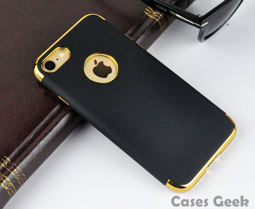 Apple iPhone Black Fashion Series with Gold Plating Case | Cover