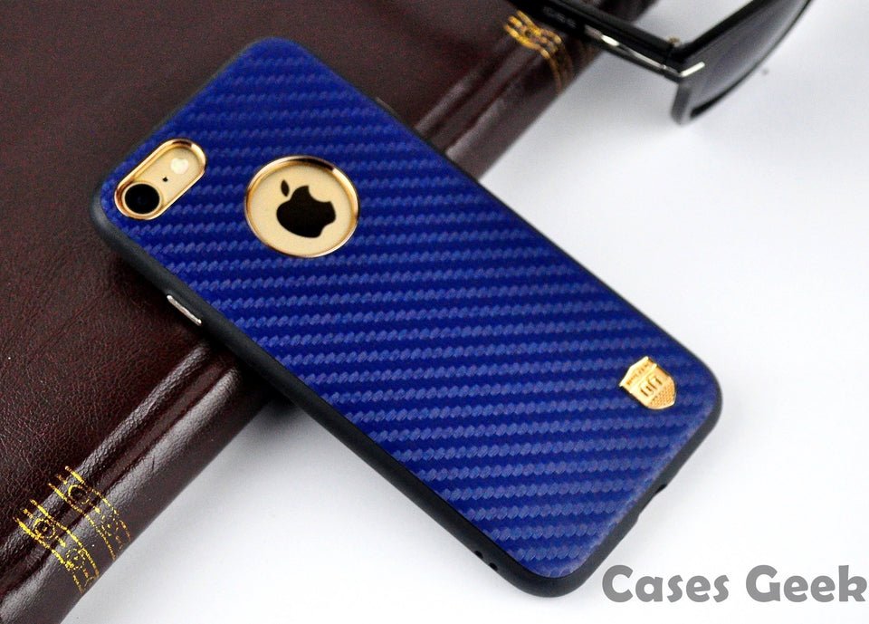 Apple iPhone Blue UYITLO Carbon Fibre Embossing Premium Case | Cover