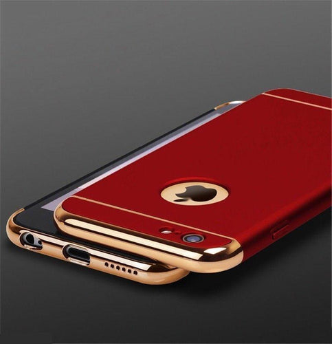 Apple iPhone Joyroom Red Matte Finish 3in1 Chrome Plating Case | Cover