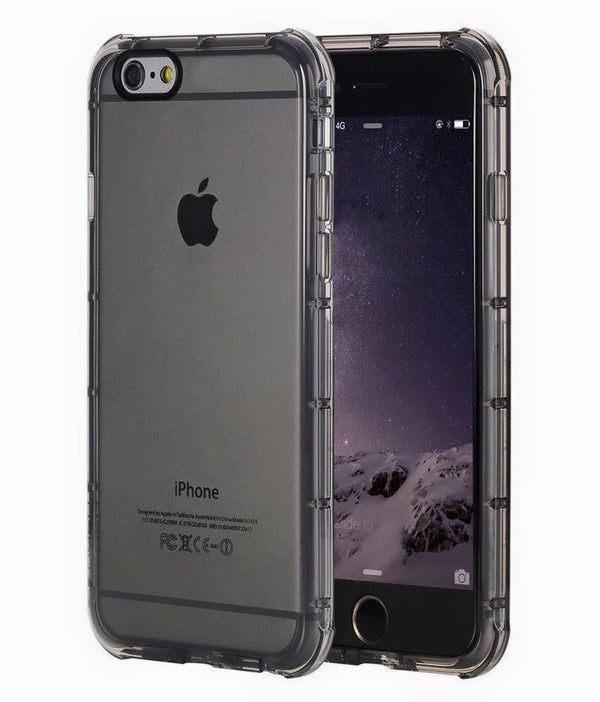 iPhone Rock Type Transparent Black Anti Shock Soft Silicon Case | Cover