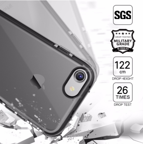 iPhone Rock Type Transparent White Anti Shock Soft Silicon Case | Cover