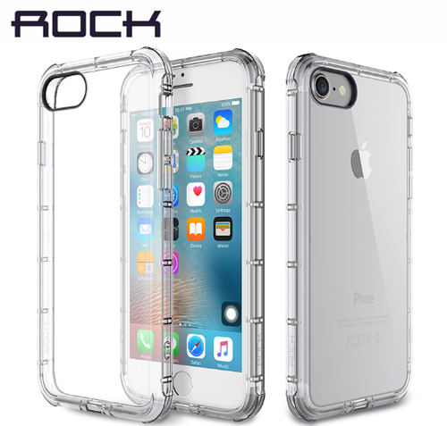 Apple iPhone Rock Type Transparent White Anti Shock Soft Silicon Case | Cover