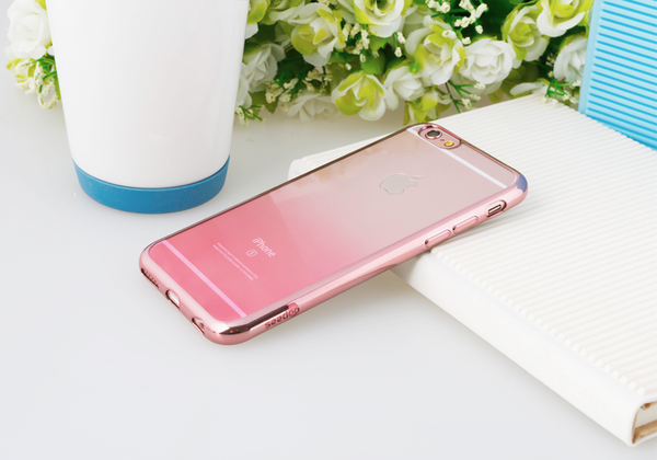 iPhone 6/6s Seedoo Crystal Clear Series Case | Rose Gold Cover