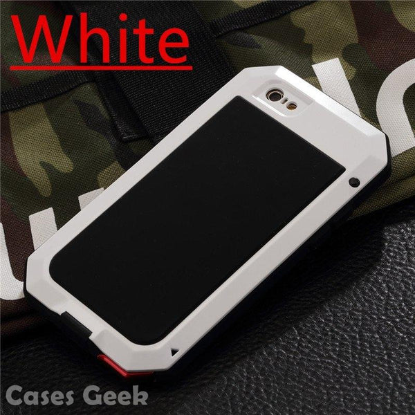 iPhone White Aluminium Gorilla Glass Metal Waterproof | Dust/Shock Proof Case | Cover