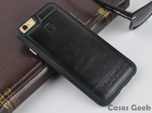 Apple iPhone Pierre Cardin Black Genuine Leather Case