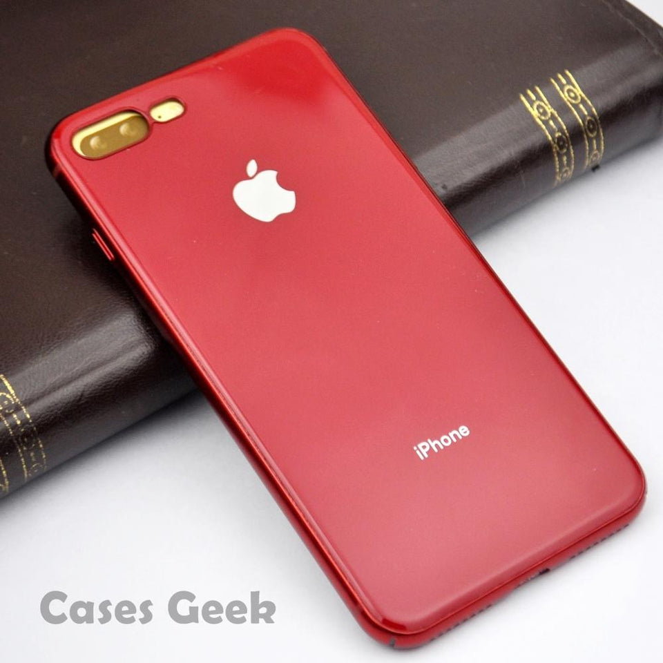 Apple iPhone Red MyCase Look Alike iPhone 8 / 8Plus Reflective Glass Finish Case | Cover