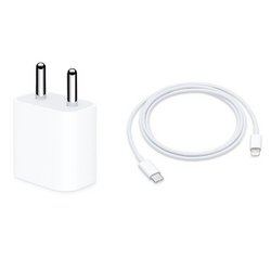 iPhone USB Type-C 20W Power Adapter and Lightning Cable