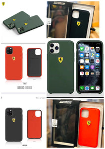 Ferrari ® iPhone Liquid Silicon Velvet-Touch Silk Finish Case