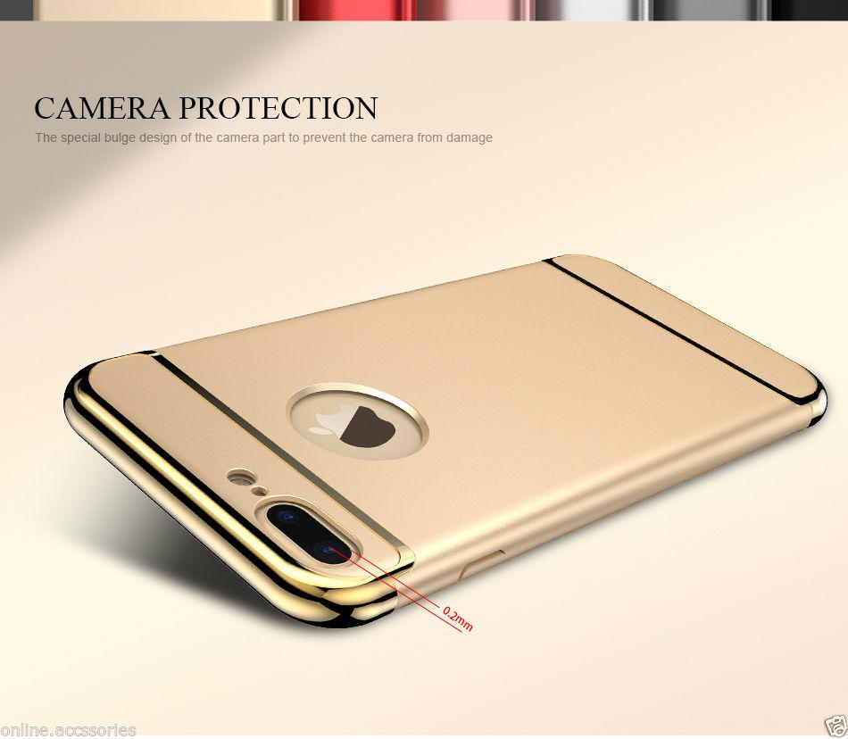 Apple iPhone Joyroom Gold Matte Finish 3in1 Chrome Plating Case | Cover