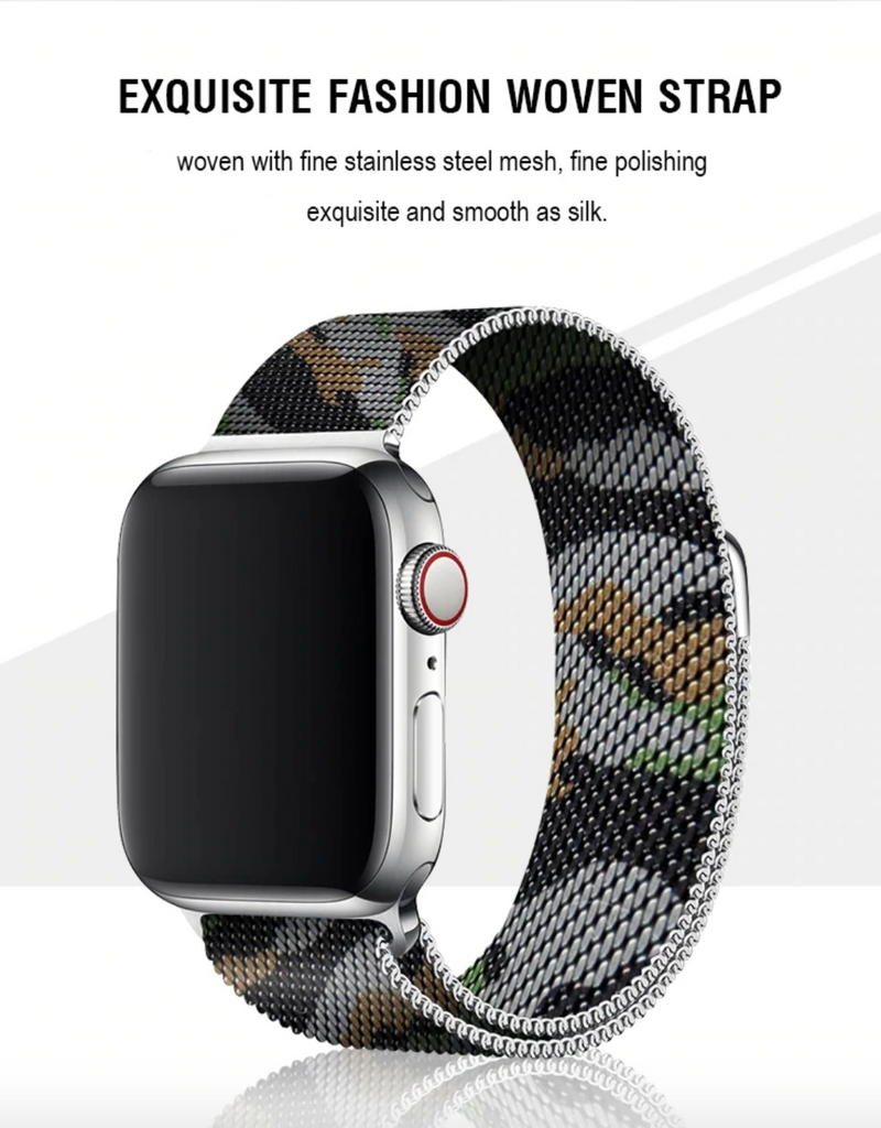 iWatch Camouflage Milanese Loop- 38/40 | 42/44mm