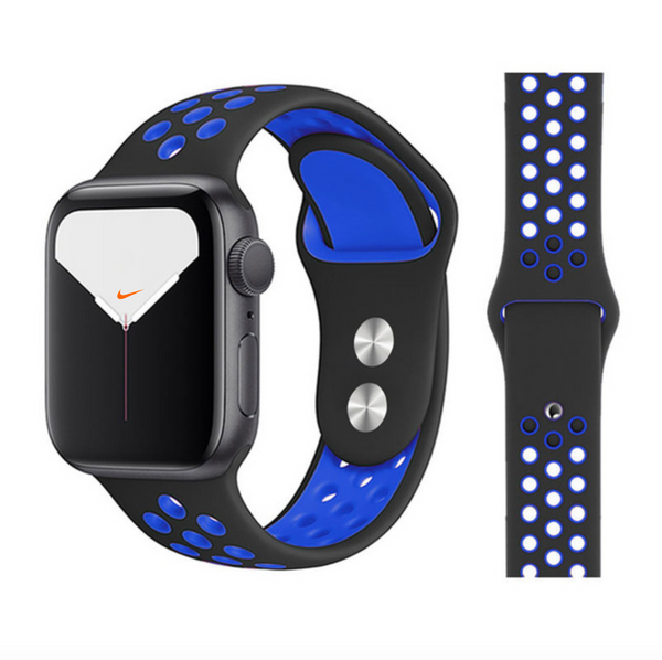 iWatch Nike Sport Band Black Blue