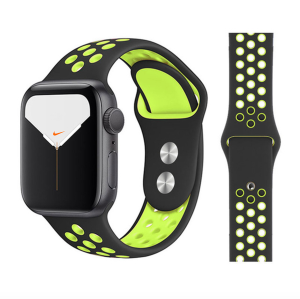 iWatch Nike Sport Band Black Green
