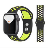iWatch Nike Sport Band Black Neon Green