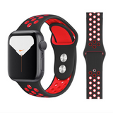 iWatch Nike Sport Band Black Red