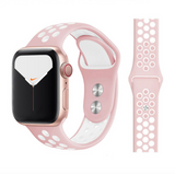 iWatch Nike Sport Band Pink White