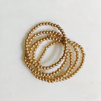 Golden Beads Bracelet Set