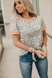 Pop of Peach Leopard Tee