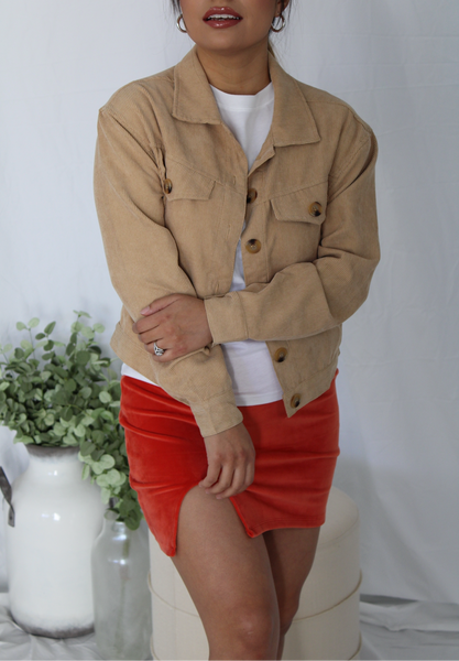 Honey Corduroy Jacket