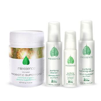 Purifying skin care essentials and In-Liven Probiotic Superfood