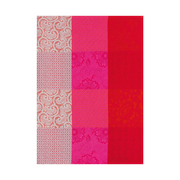 "French Tea Towel ""Kyoto Flowers in Cherry"""