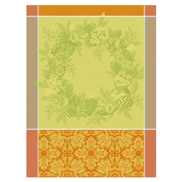 "French Tea Towel ""Easter Wreath"""