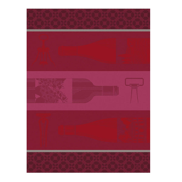 "French Tea Towel ""Red Wine Bottle"""