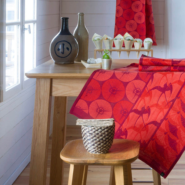 "French Tea Towel ""Red Kimono"""