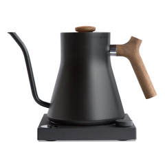 Water Kettle, Stagg Variable Temp in Black with Walnut Handle