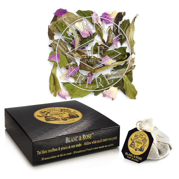 Blanc & Rose Teabags by Mariage Frères - NEW!