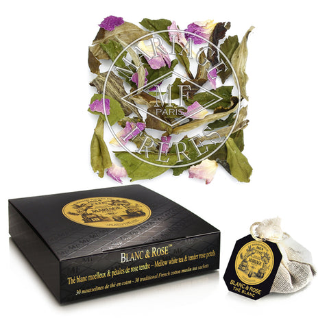 Teabags, Blanc & Rose by Mariage Frères -NEW!