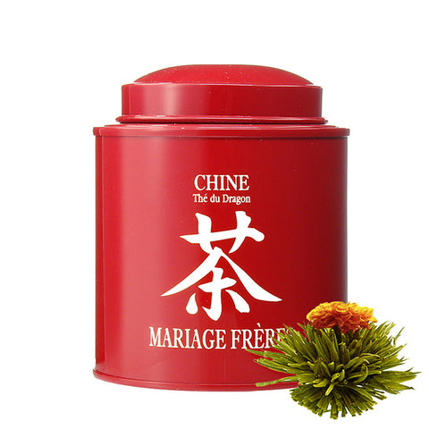 China Calligraphy Tin, Green Blooming Tea by Mariage Frères -NEW!