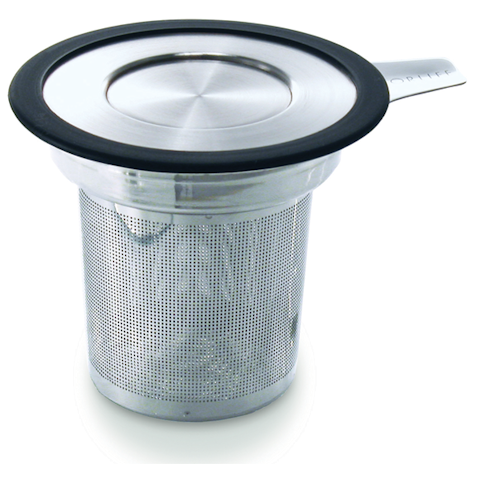 Tea Infuser, Fine Mesh Stainless with Lid - The Cultured Cup®