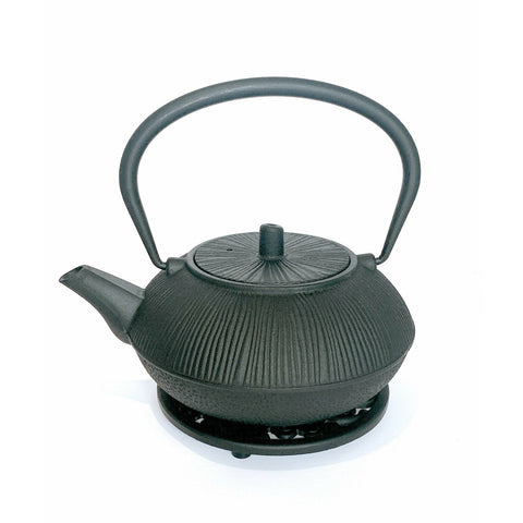 Teapot, Iron, Black/2-Textures, 24oz -NEW!