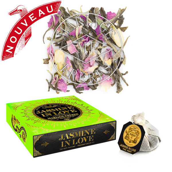 Jasmine in Love Organic Green Teabags by Mariage Frères - NEW!