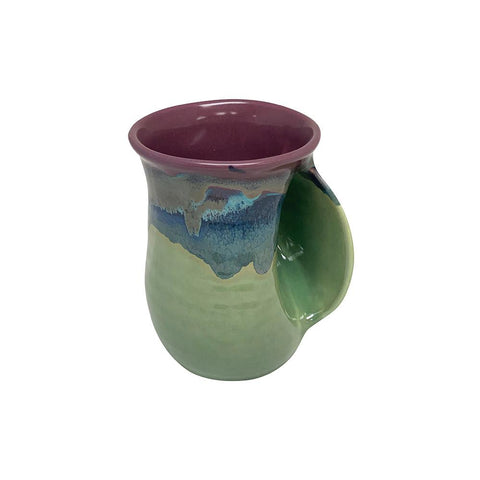 Hand-Hug Mug, Rt-Hand, Purple/Green, 14oz -NEW!