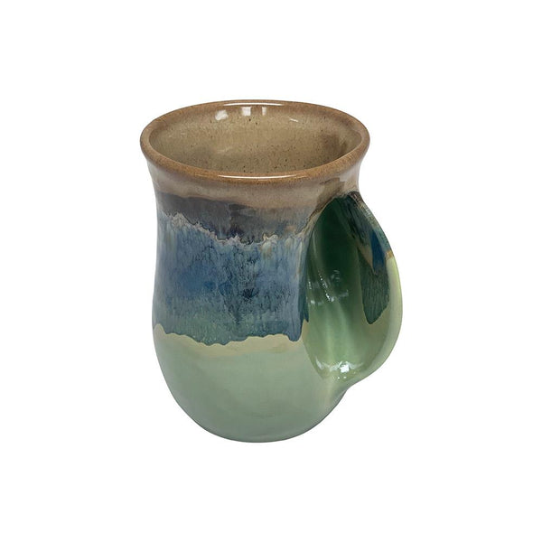 Hand-Hug Mug, Rt-Hand, Lt. Brown/Green, 14oz
